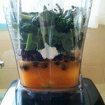 Breakfast smoothies in the Vitamix